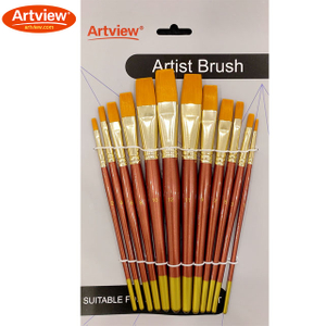 Golden Synthetic Brush